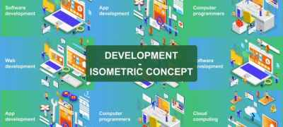 Digital Development - Isometric Concept
