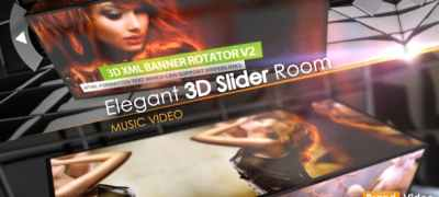 Elegant 3D Slider Room