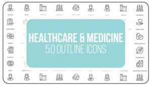 Healthcare And Medicine - 50 Thin Line Icons