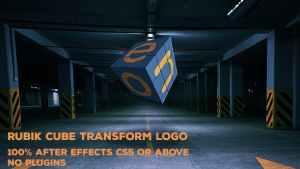 Rubik Cube Transform Logo