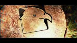Saw Cut Tree Logo | After Effects Template