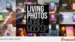 Living Photos Mobile Mockup