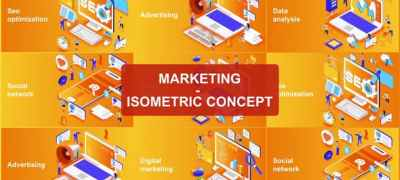 Marketing - Isometric Concept