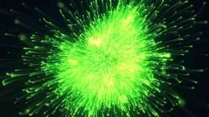 Particle Burst Logo