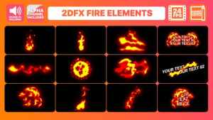 Hand Drawn Fire Elements Pack | After Effects
