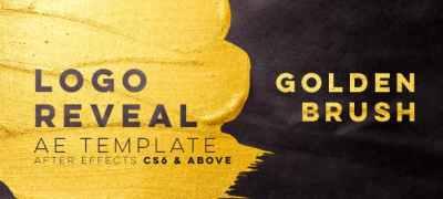 Golden Brush Logo Reveal