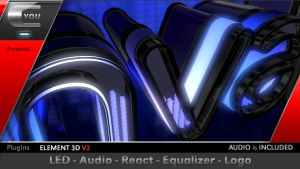 LED Audio React Equalizer Logo