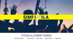 Simplifica // Titles & Lower Thirds