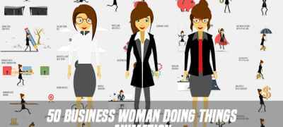 Business Woman Doing Things Animation