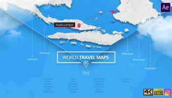 After Effects Projects | Download World Travel Maps - South