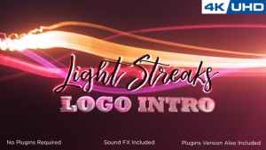 Light Streaks Logo Intro