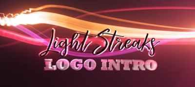 Light Streaks Logo Intro