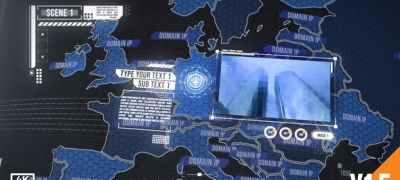 World Map Element 3D