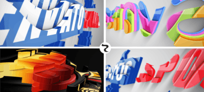 Realistic Cascading 3D Logo