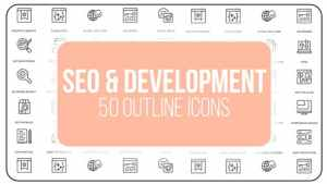 Seo Optimization - 50 Thin Line Icons