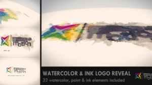 Watercolor & Ink Logo Reveal