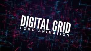 Digital Grid Logo Animation
