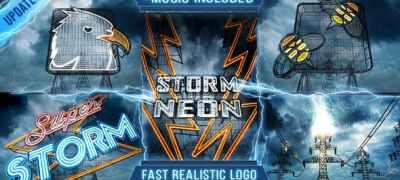 Neon Storm Logo Intro