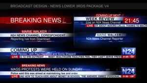 Broadcast Design - News Lower 3rds Package V4