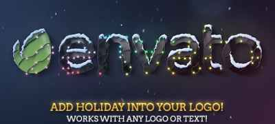 Christmas & New Year Lights Elegant Logo