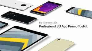 Professional 3D App Promo Toolkit for Element 3D
