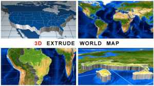 3D Extrude World Map