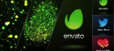 Glowing Dots Logo