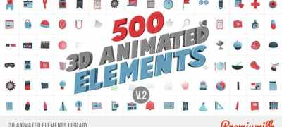 3D Animated Elements Library