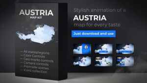 Austria Map - Republic of Austria Map Kit