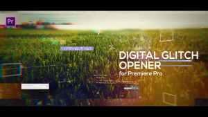Glitch Opener for Premiere Pro
