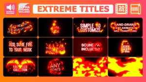 Extreme Titles | After Effects