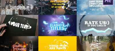 Cartoon Lyric Titles| After Effects Template