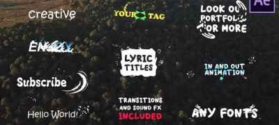 Lyric Titles| After Effects Template