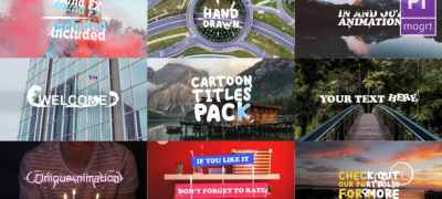 Cartoon Titles Pack | Premiere Pro MOGRT