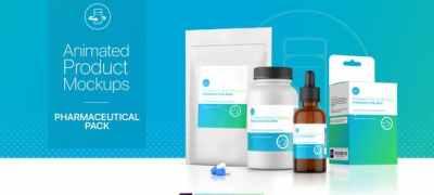 Animated Product Mockups - Pharmaceutical Pack