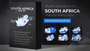 South Africa Map - Republic of South Africa Map Kit