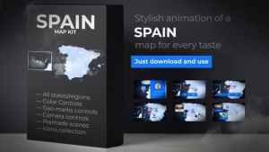 Spain Animated Map - Kingdom of Spain Map Kit