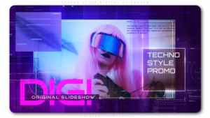 Techno Style Digital Slideshow