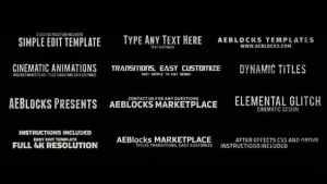 Cinematic Glitch Titles 3