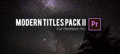 Modern Titles Pack II for Premiere Pro