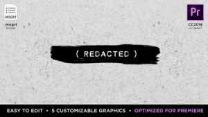 Redacted Titles | MOGRT for Premiere Pro