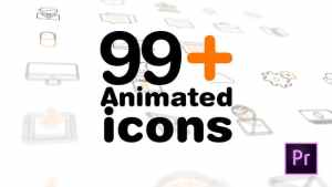 99+ Icons Mogrt