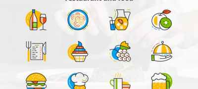Restaurant And Food - Flat Animated Icons