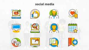 Social Media - Flat Animated Icons