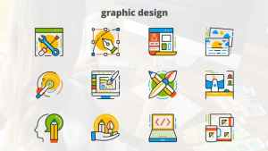 Graphic Design - Flat Animated Icons