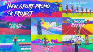 New Sport Promo 4K/ Grange Run Motivation/ Active Training/ Marker Oil Paint Dynamic Workout/ TV ID