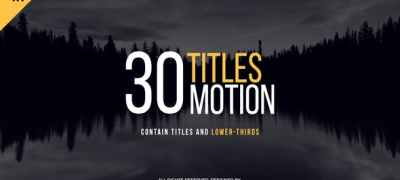 30 Motion Titles | FCPX or Motion