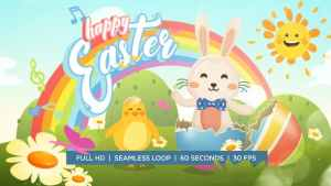 Easter Bunny and Chicken Dance Greeting