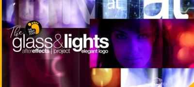 Glass & Lights Elegant Logo