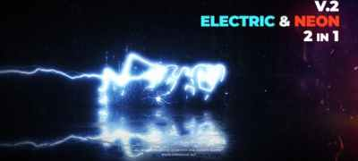 Electric and Neon Logo Reveal